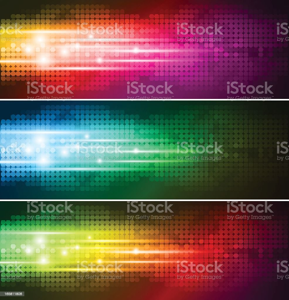 Abstract colorful banner vector art illustration