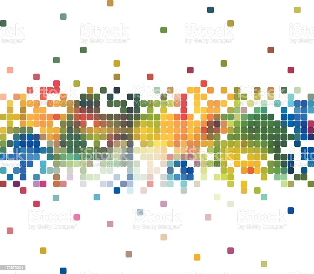 abstract colorful check pattern background vector art illustration