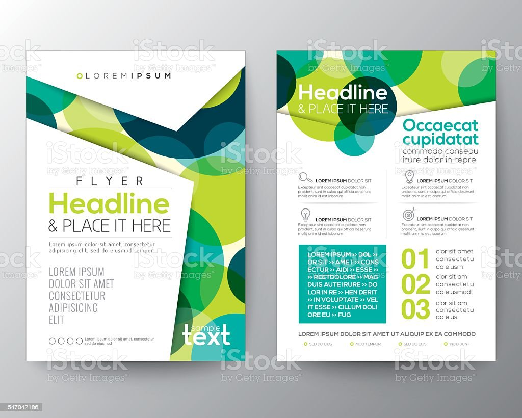Abstract colorful circles background for Poster Brochure Flyer design vector art illustration