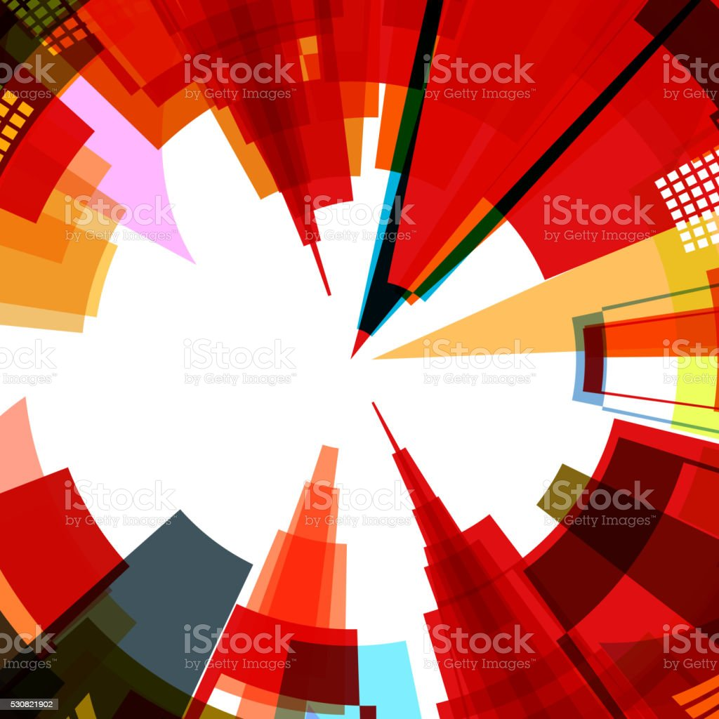 abstract colorful city pattern background vector art illustration