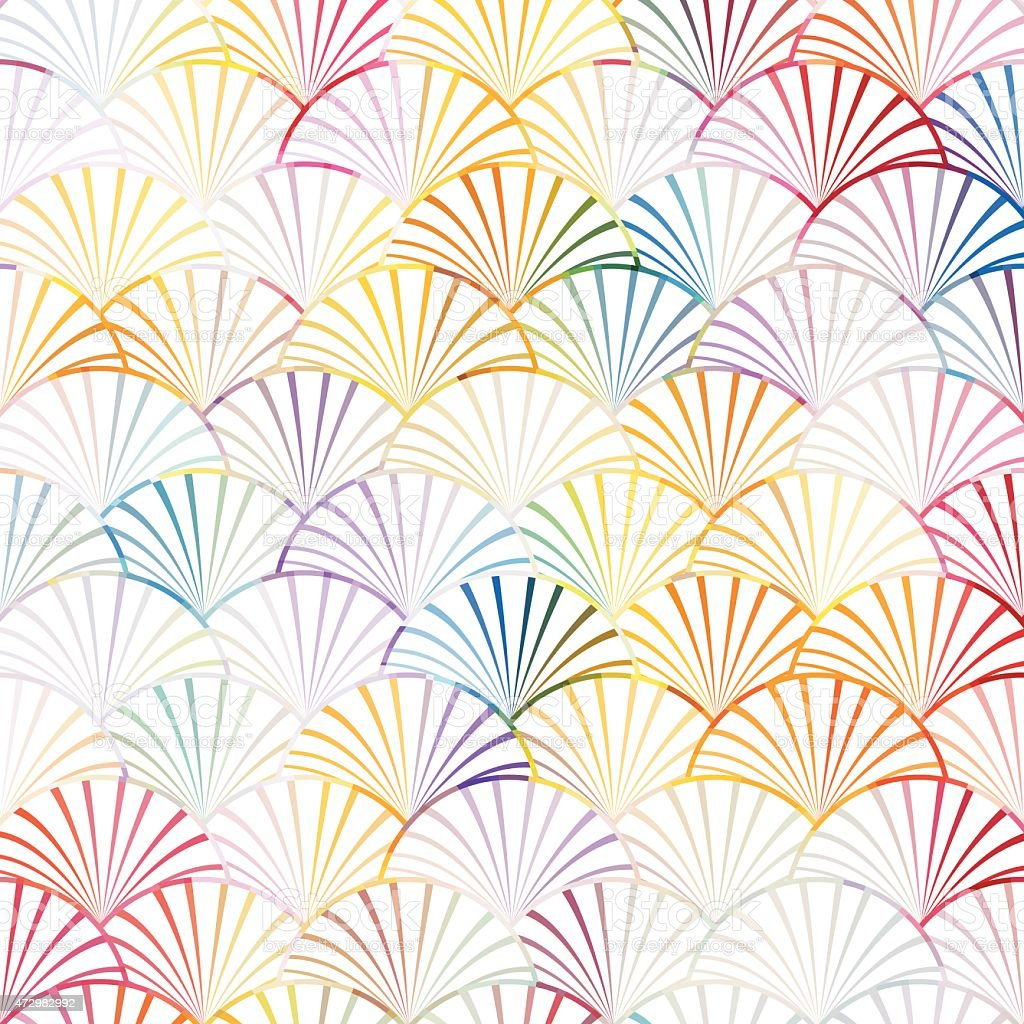 abstract colorful curve stripe pattern background vector art illustration
