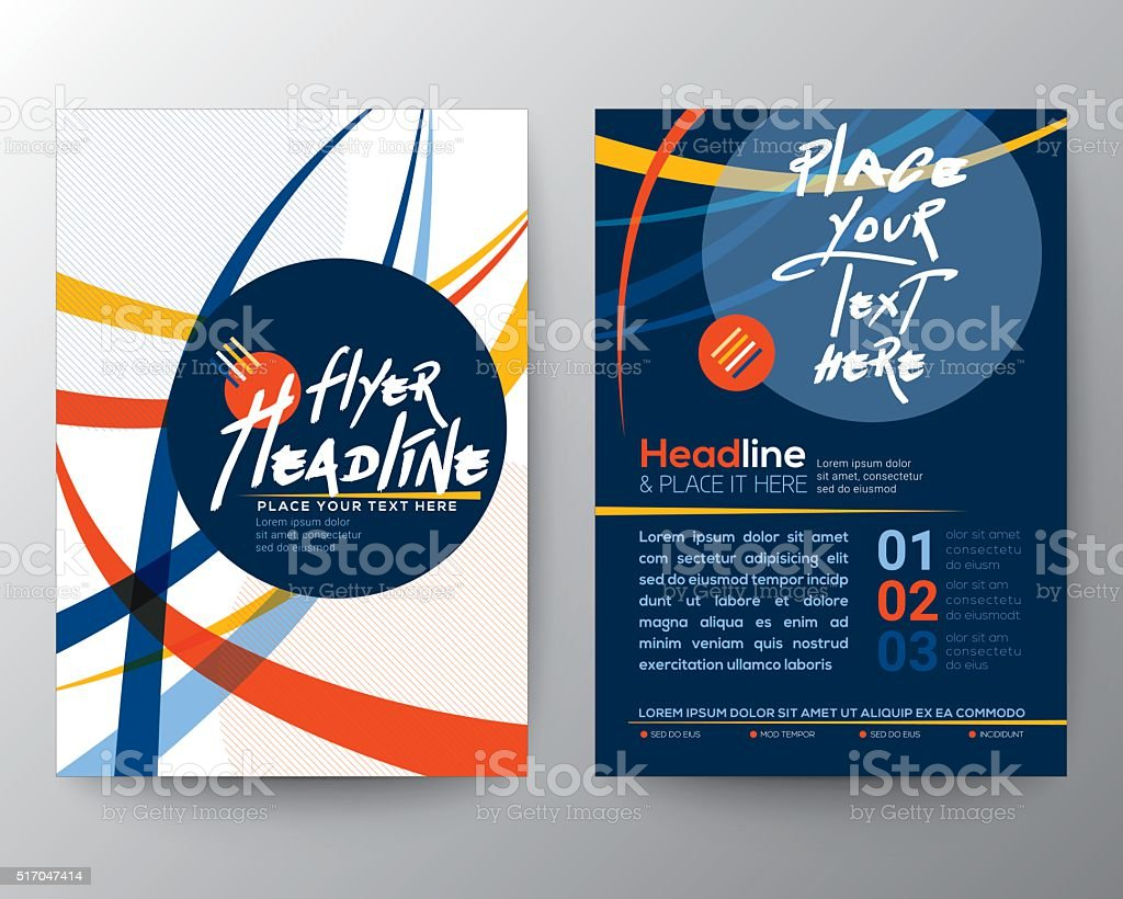 Abstract Colorful Curved Line shape Poster Brochure Flyer design vector art illustration