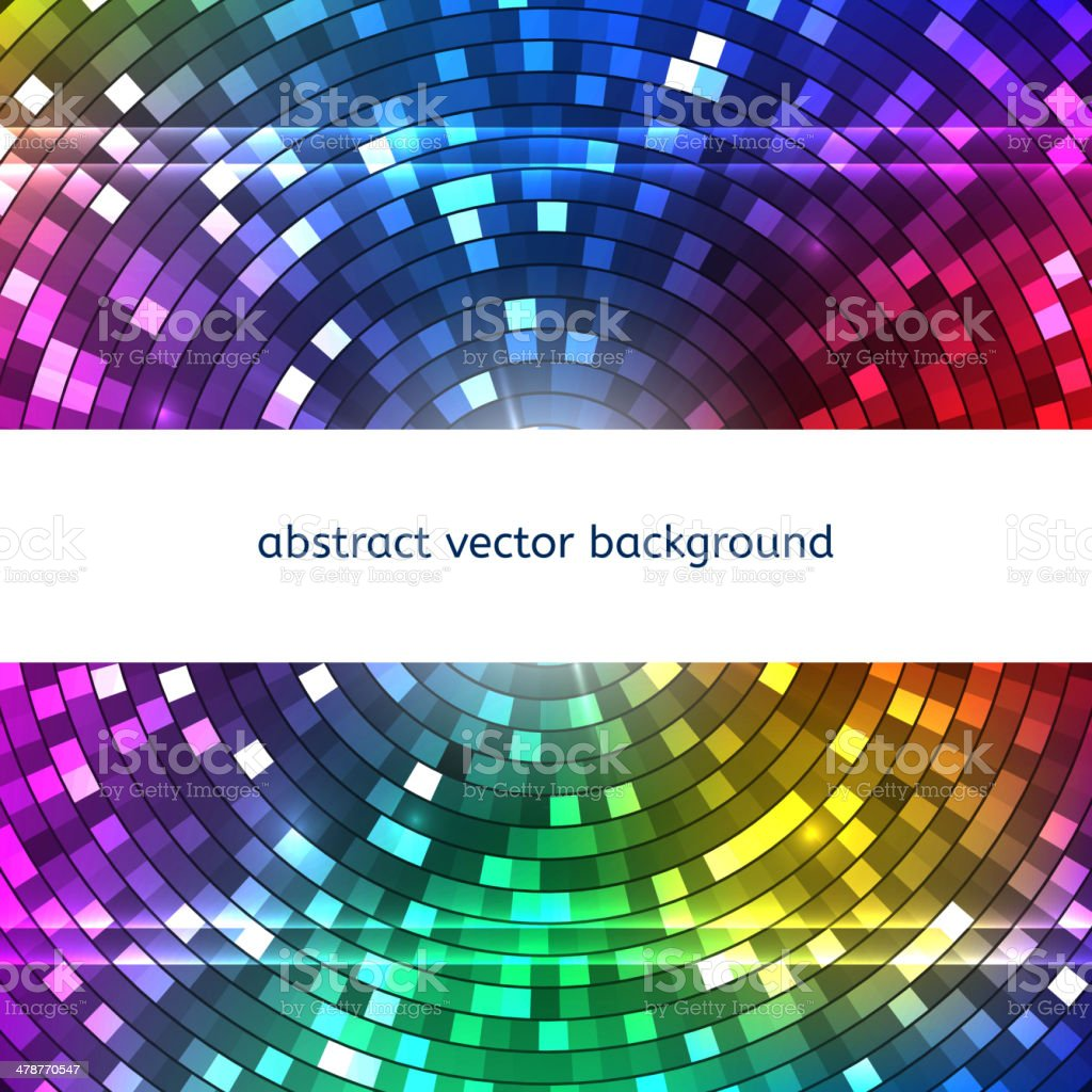 Abstract Colorful Disco Lights background. Vector vector art illustration