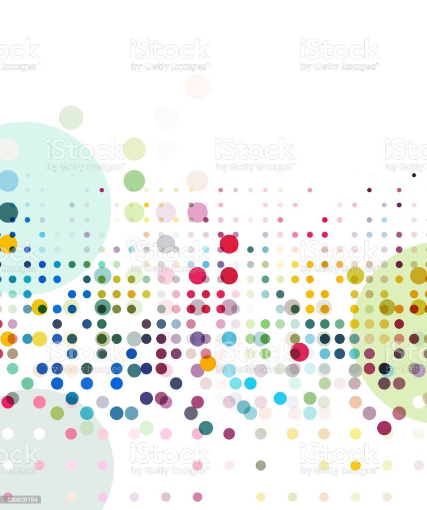 abstract colorful dots element pattern vector art illustration