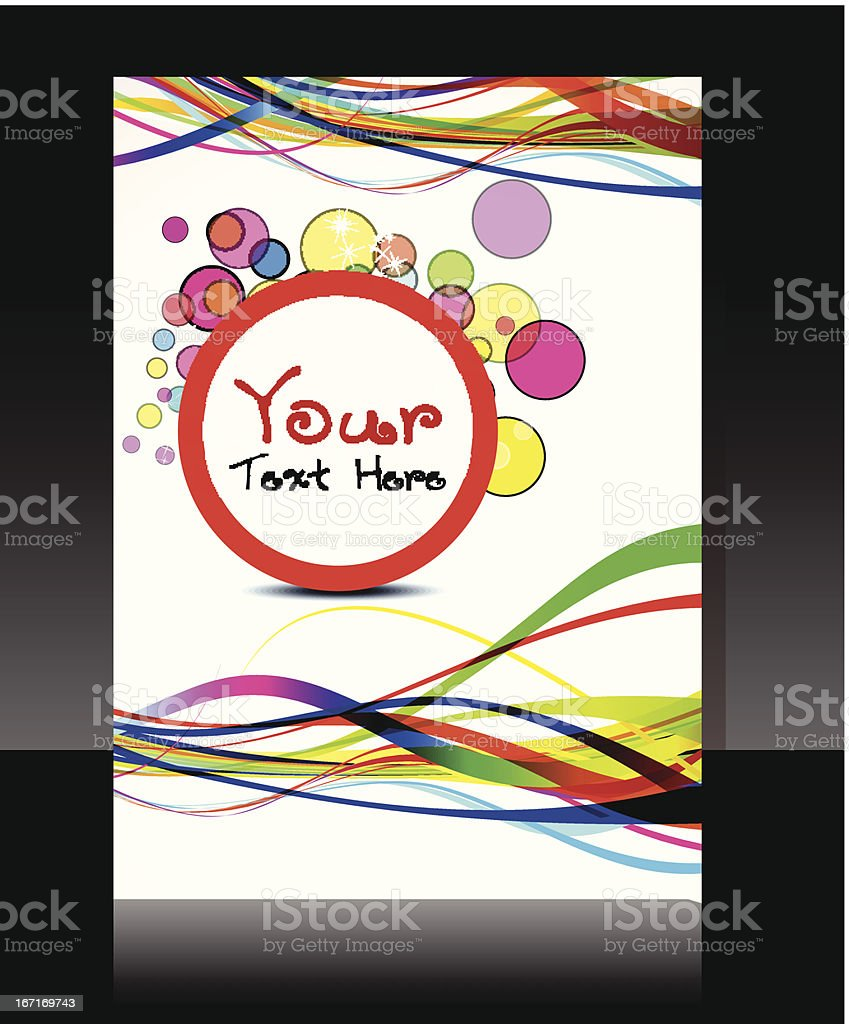 abstract colorful flayer design with circles royalty-free stock vector art