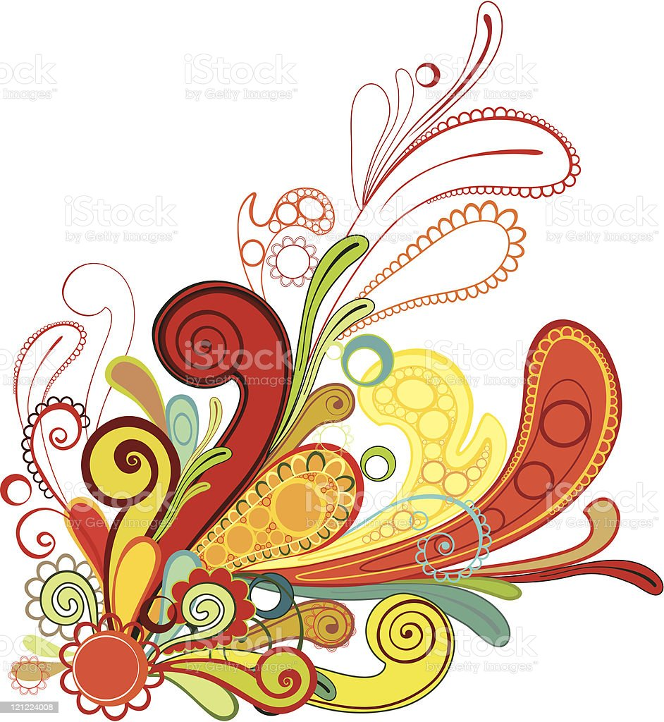 abstract colorful floral background royalty-free stock vector art