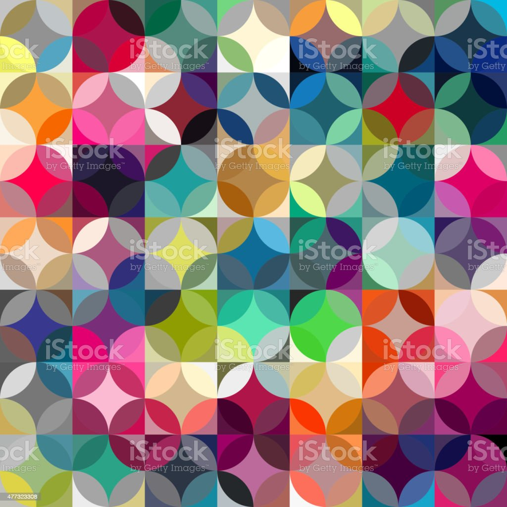 Abstract colorful geometric background vector art illustration