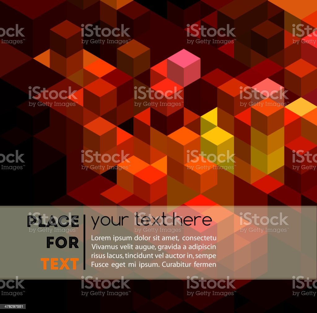 Abstract colorful geometric background royalty-free stock vector art