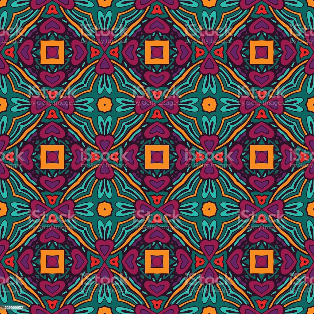 abstract colorful geometric pattern vector art illustration