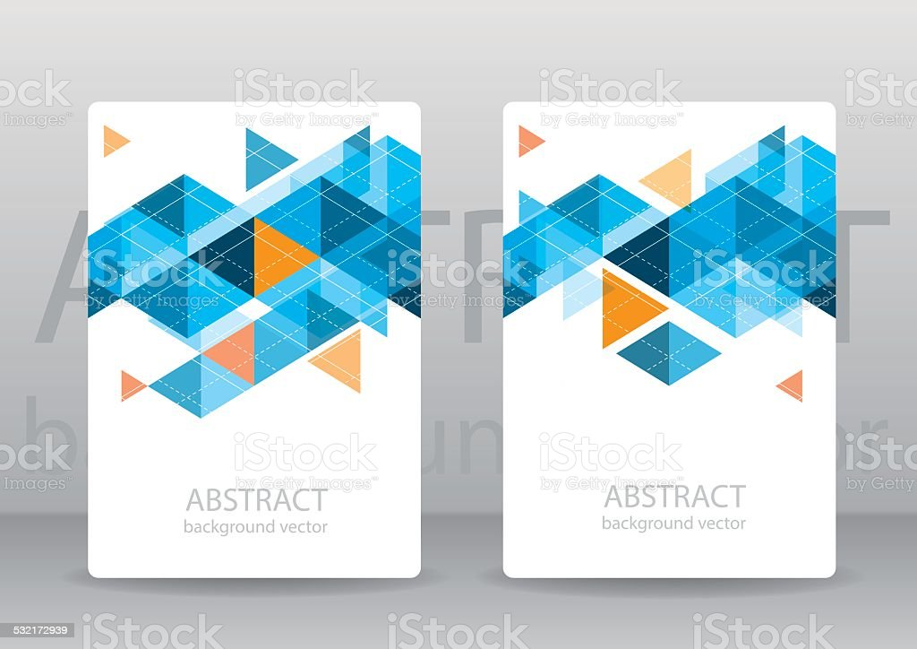 Abstract colorful geometric triangular backgrounds. vector modern flyer. vector art illustration