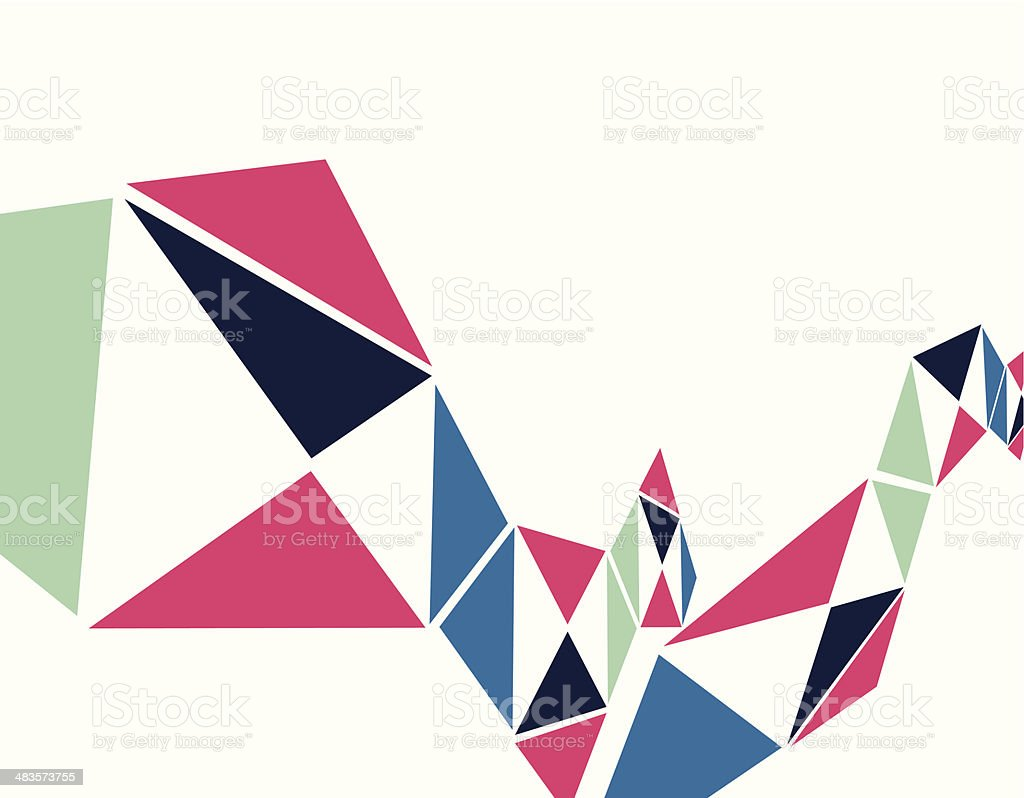 abstract colorful geometry shape background vector art illustration