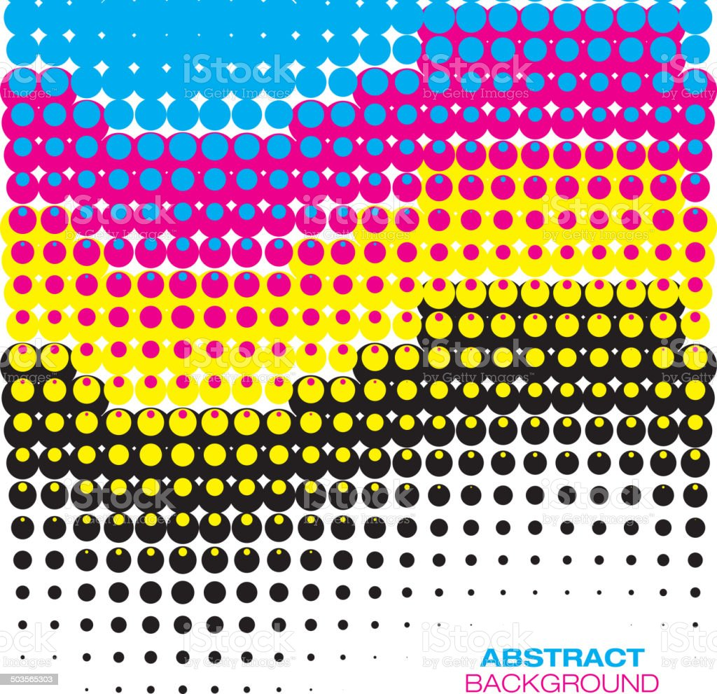 Abstract Colorful Halftone Background vector art illustration