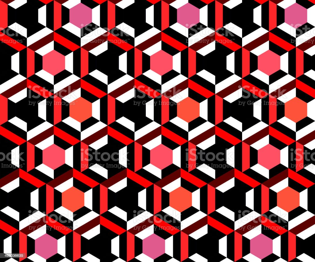 abstract colorful hexagon geometry pattern background royalty-free stock vector art