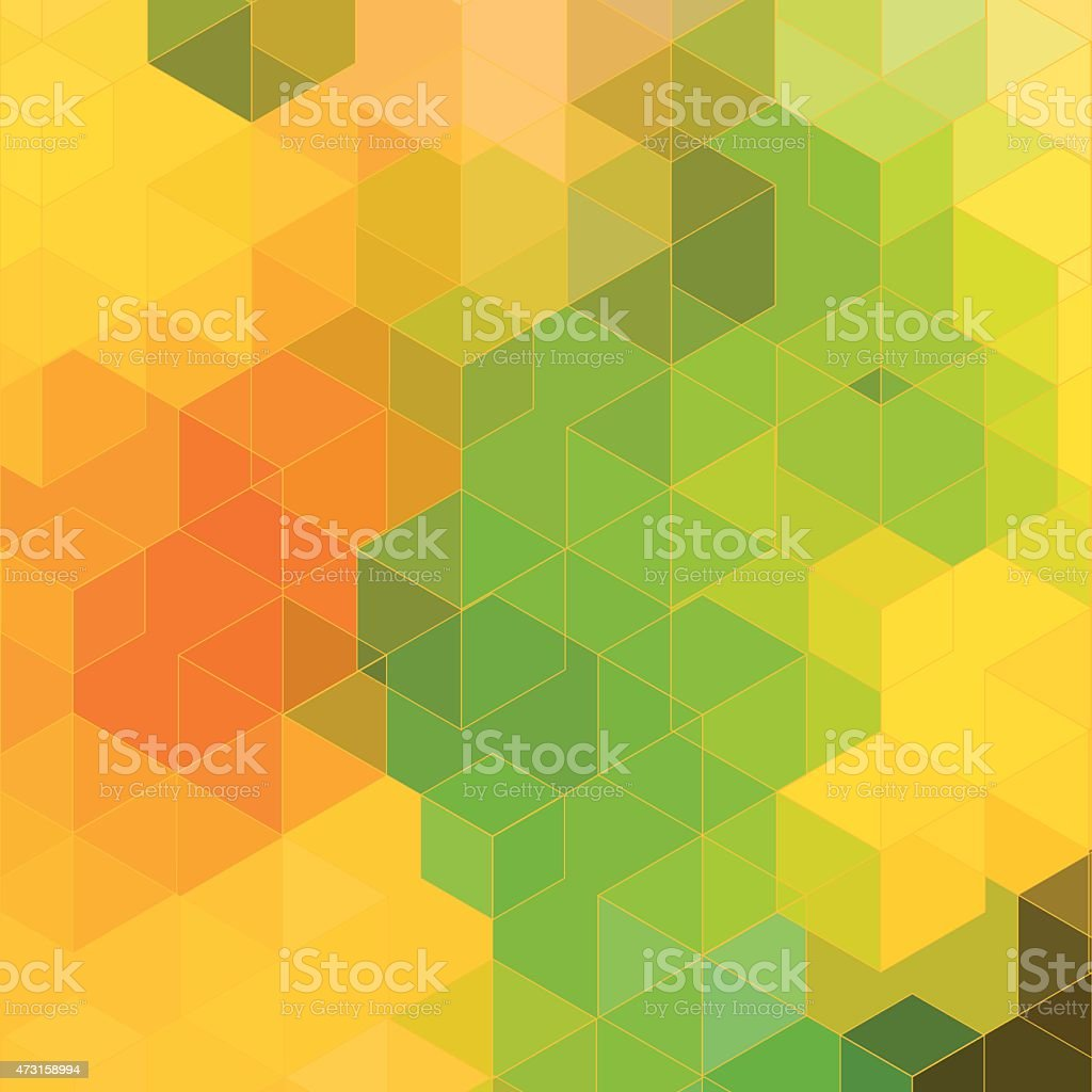 abstract colorful hexagon pattern background vector art illustration