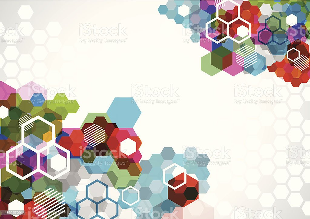 abstract colorful hexagon pattern background royalty-free stock vector art