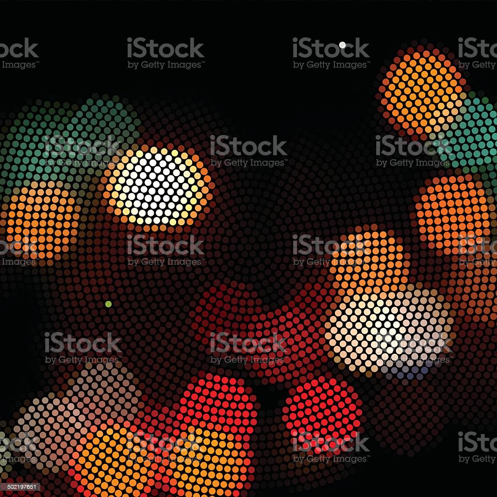 abstract colorful light in night pattern background vector art illustration