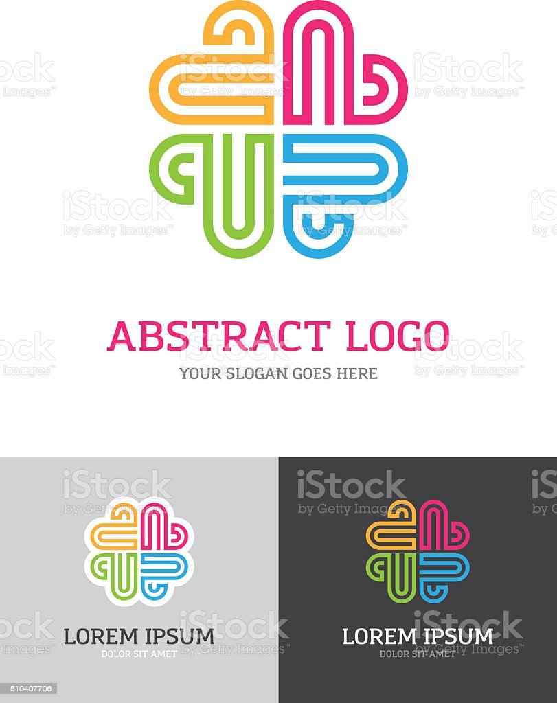 Abstract  colorful logo vector art illustration