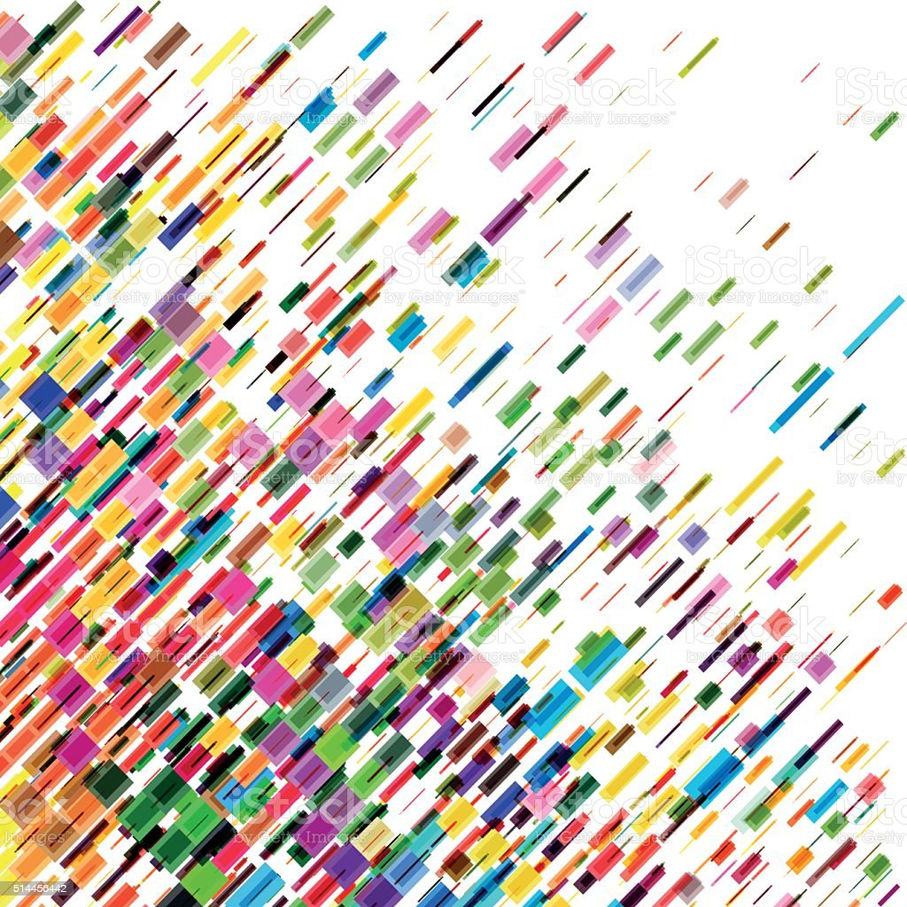 Abstract colorful moving lines, vector background vector art illustration