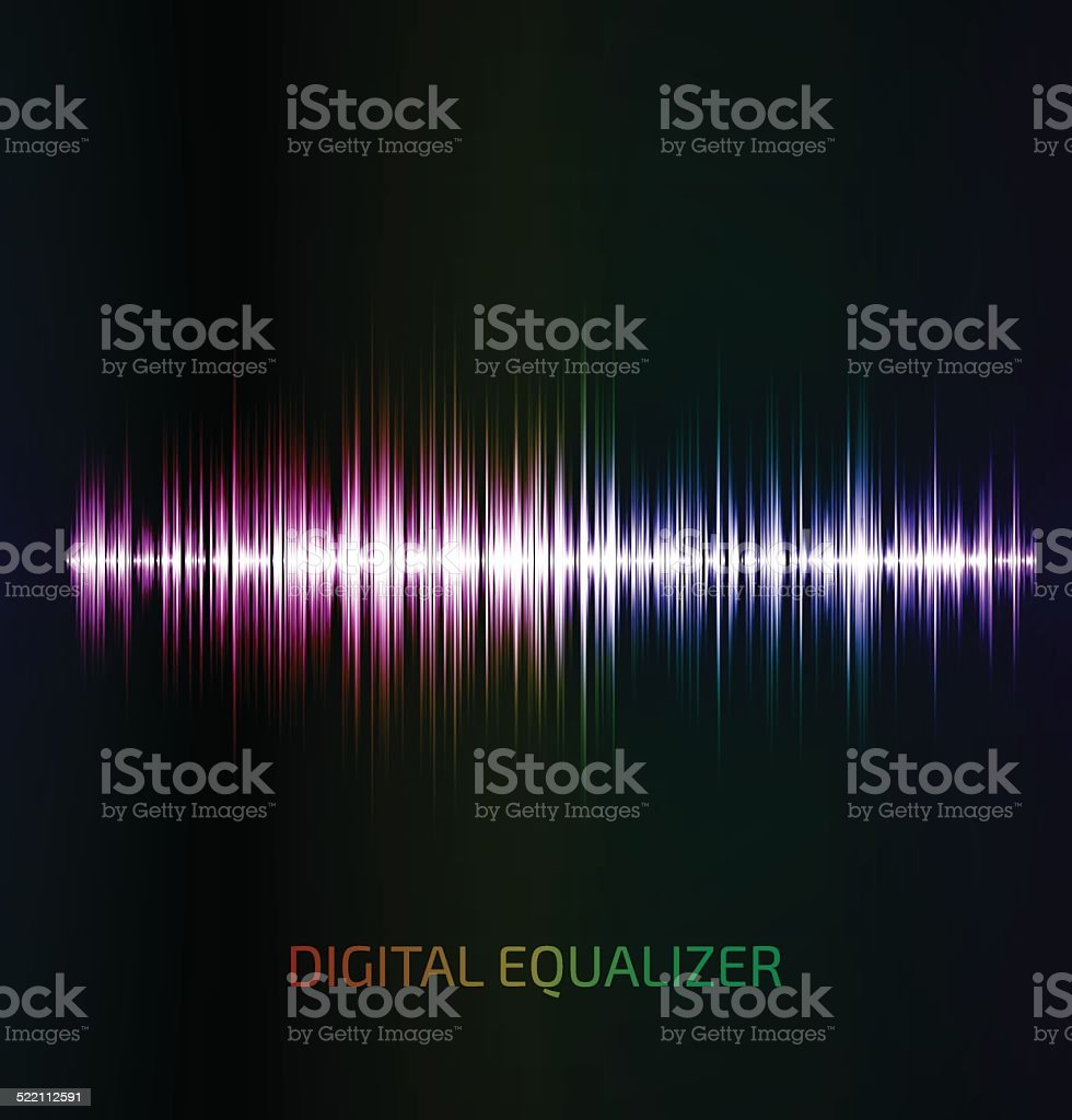 Abstract colorful music equalizer vector art illustration