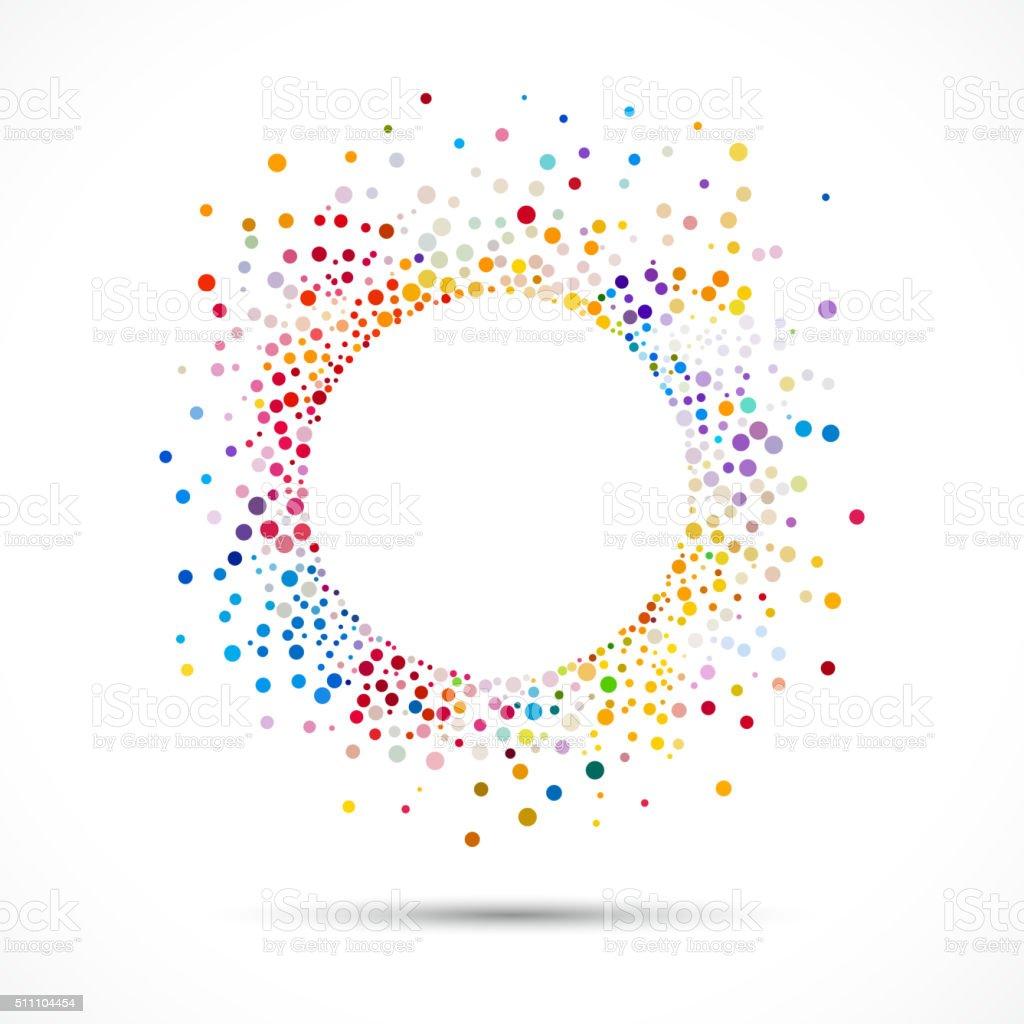 abstract colorful polka dot pattern vector art illustration