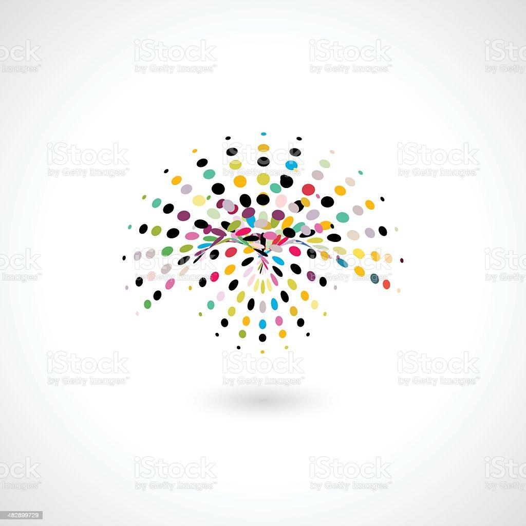 abstract colorful polka dots shape vector art illustration