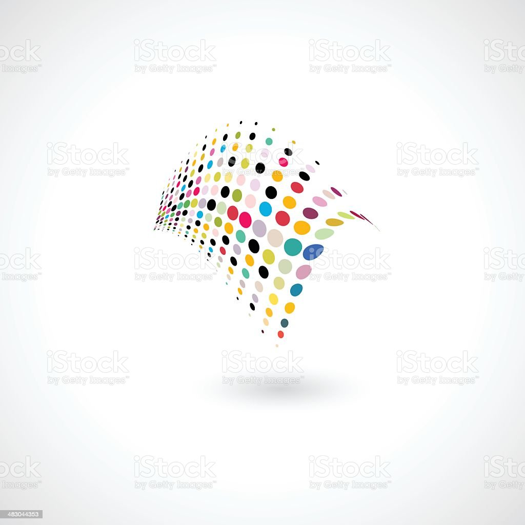 abstract colorful polka dots shape vector art illustration