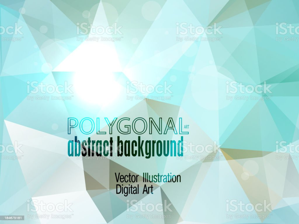 Abstract colorful polygonal background. royalty-free stock vector art