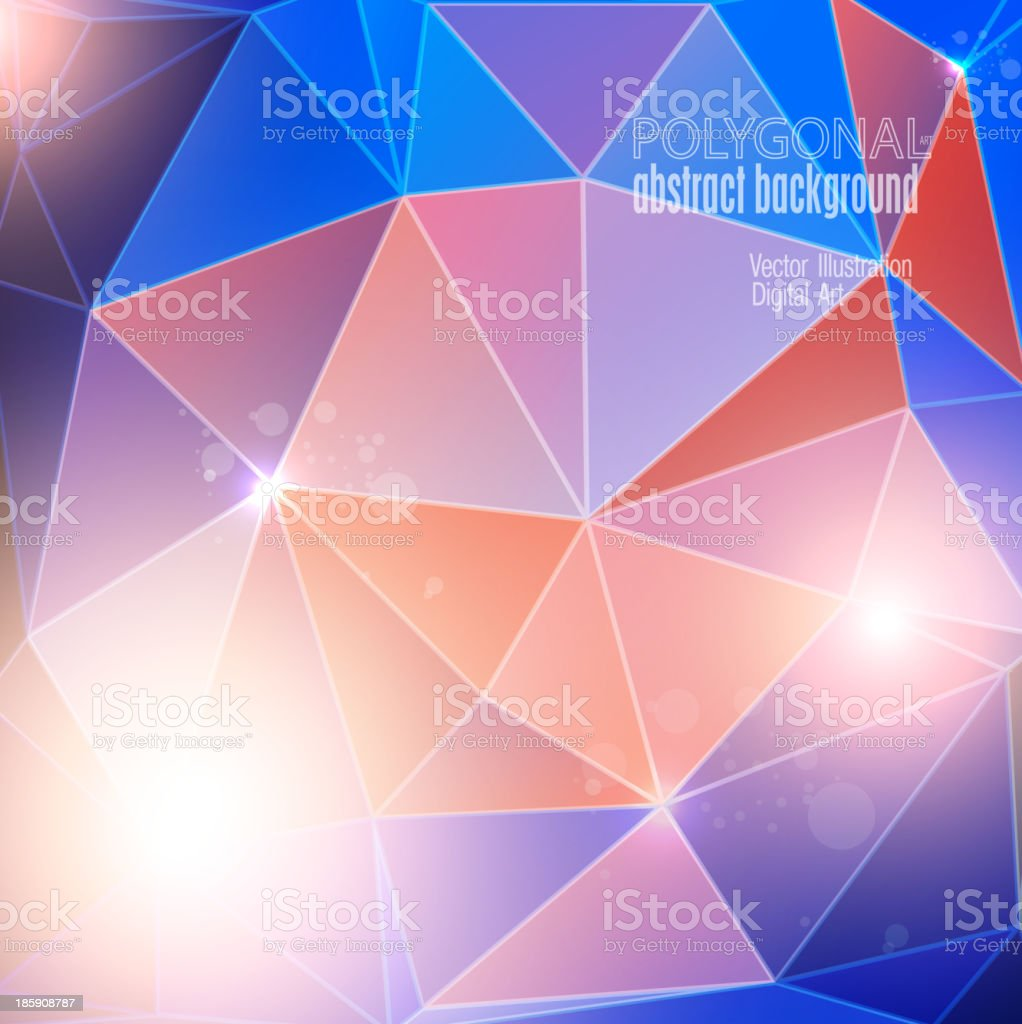 Abstract colorful polygonal background. Vector illustration royalty-free stock vector art