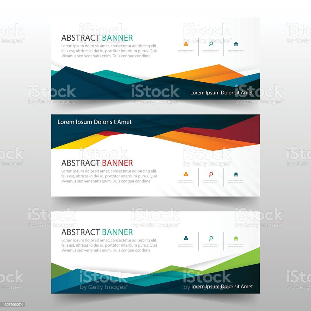 abstract colorful polygonal banner template horizontal advertising 1 credit