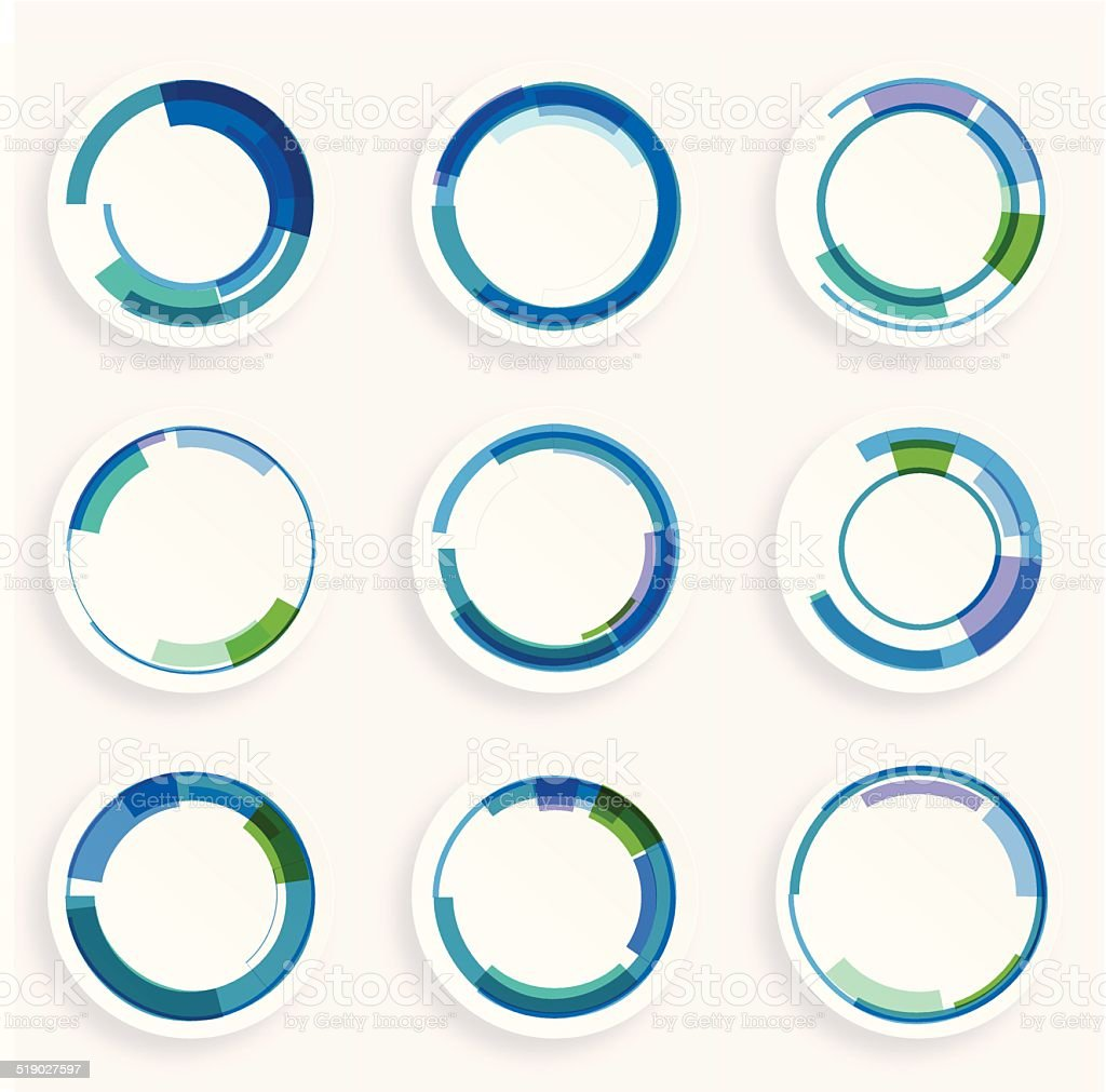 abstract colorful retro circle pattern icon for design vector art illustration