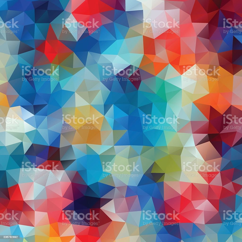 Abstract colorful retro geometric background. vector art illustration