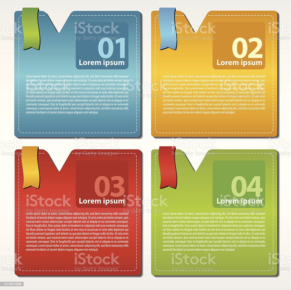 Abstract colorful set of square banner. royalty-free stock vector art
