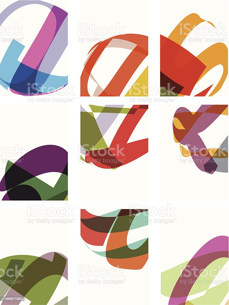 abstract colorful shape design template for design vector art illustration