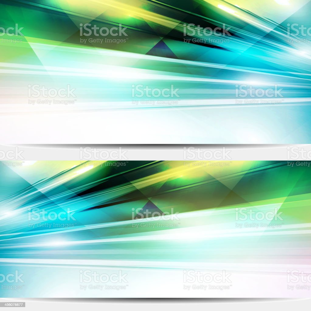 Abstract colorful shiny banners royalty-free stock vector art