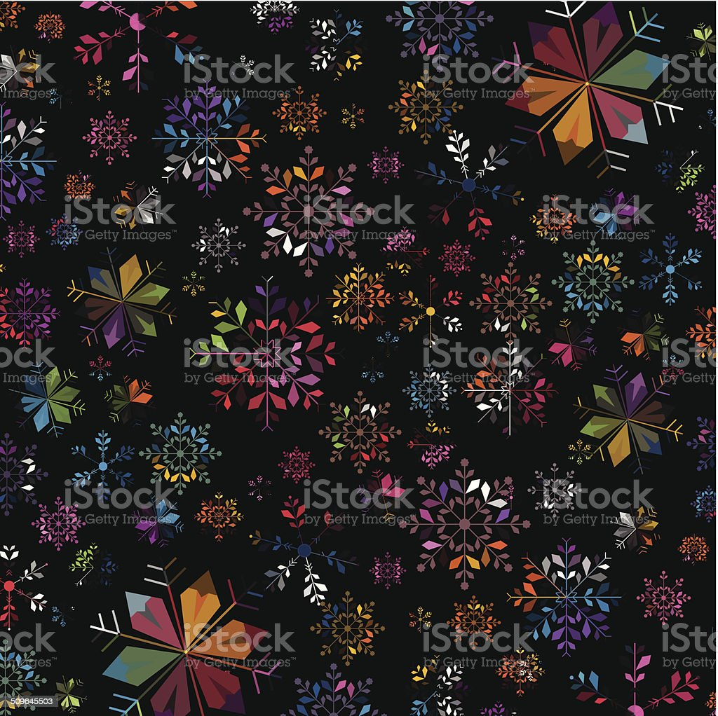 abstract colorful snowflake pattern background royalty-free stock vector art