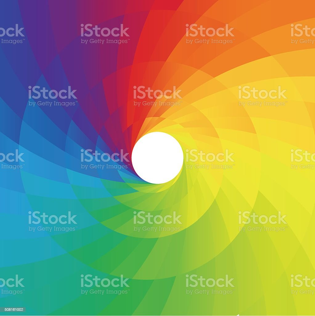 Abstract colorful spiral background vector art illustration