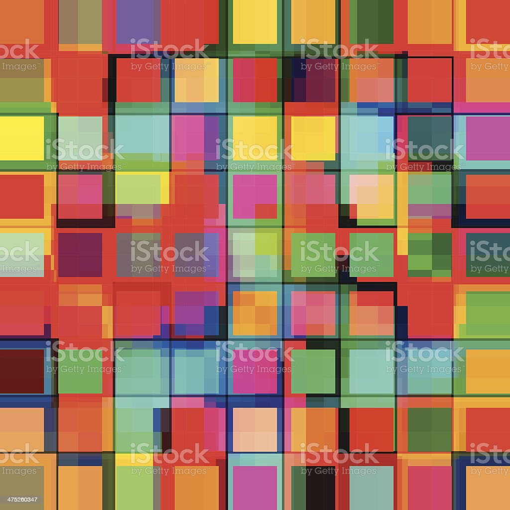 abstract colorful squares, geometric style colorful background. a flat design sample. royalty-free stock vector art