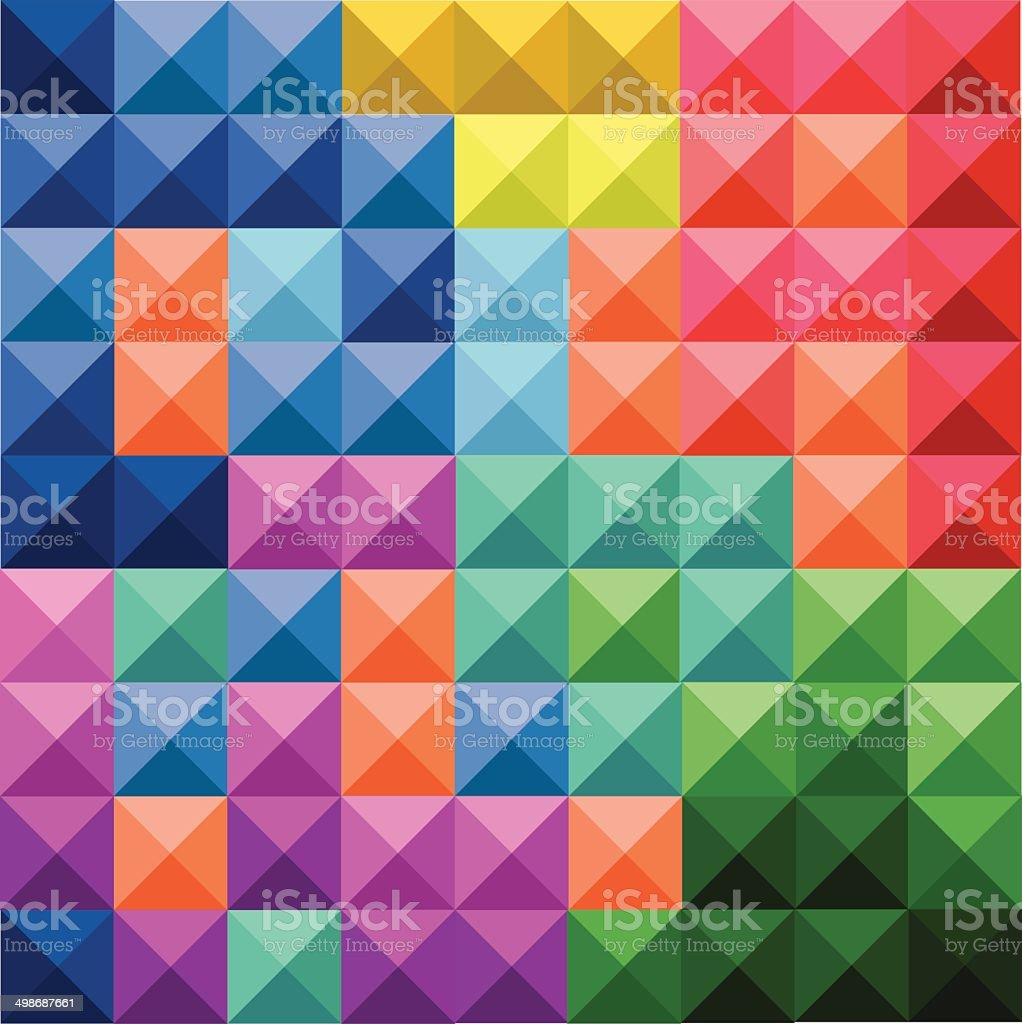 Abstract colorful squares pattern royalty-free stock vector art