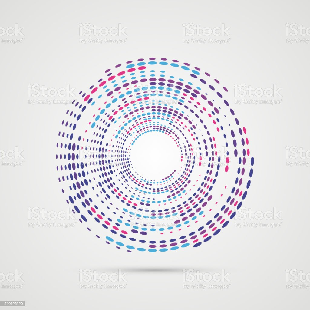 Abstract Colorful Swirly Illustration. Modern design. Vector vector art illustration
