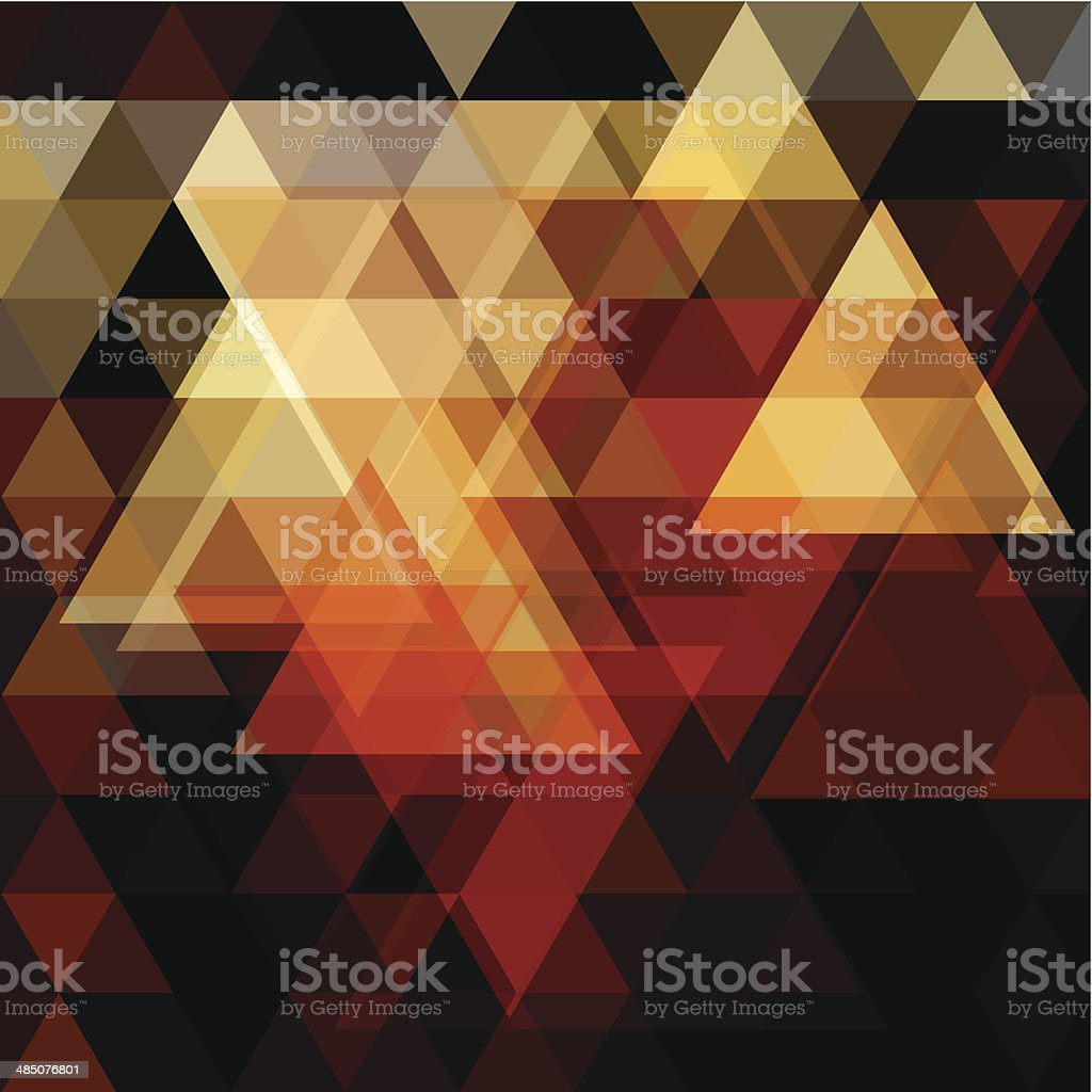 abstract colorful triangle pattern background vector art illustration