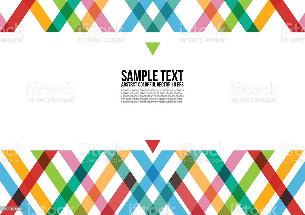 Abstract Colorful Triangle Pattern vector art illustration