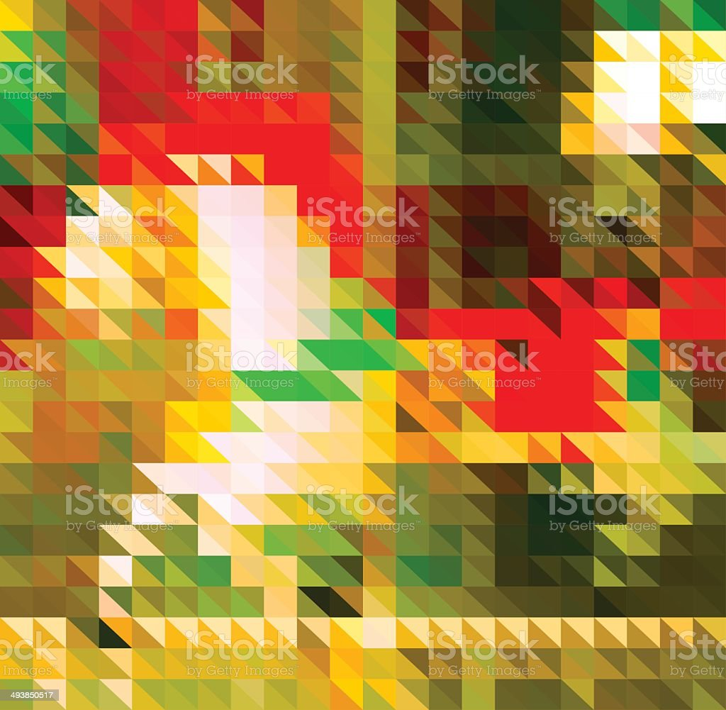 abstract colorful triangle playground pattern background vector art illustration