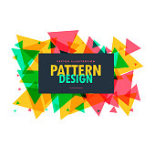 abstract colorful triangle shapes frame  background