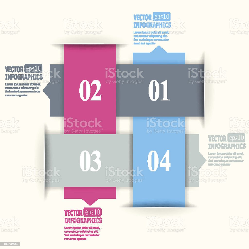 Abstract colorful vector infographic elements royalty-free stock vector art