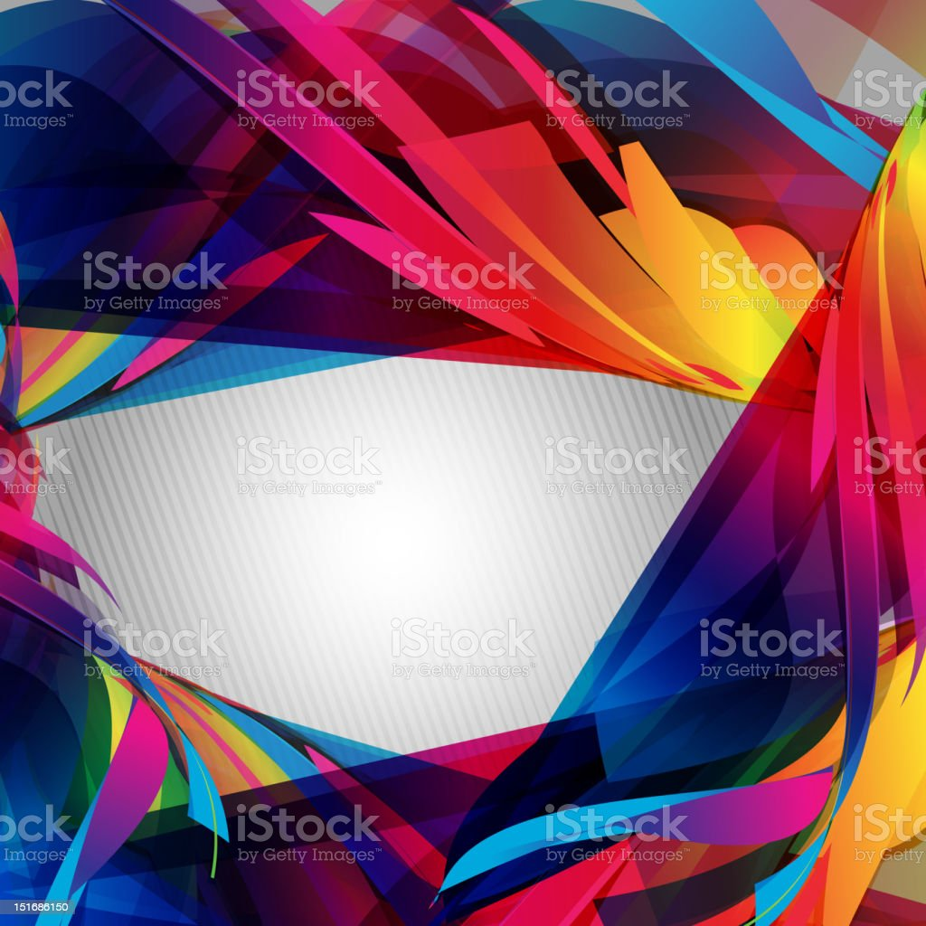 Abstract colorful vector swirl royalty-free stock vector art