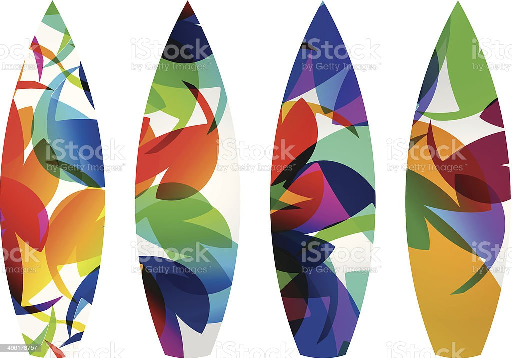 Abstract Colorful Water Surf board royalty-free stock vector art