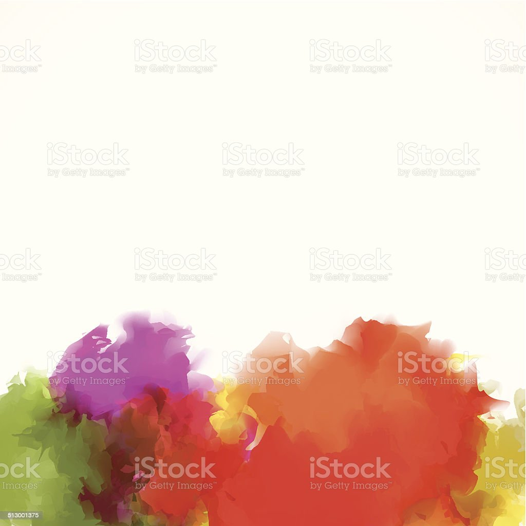 abstract colorful watercolor pattern background vector art illustration