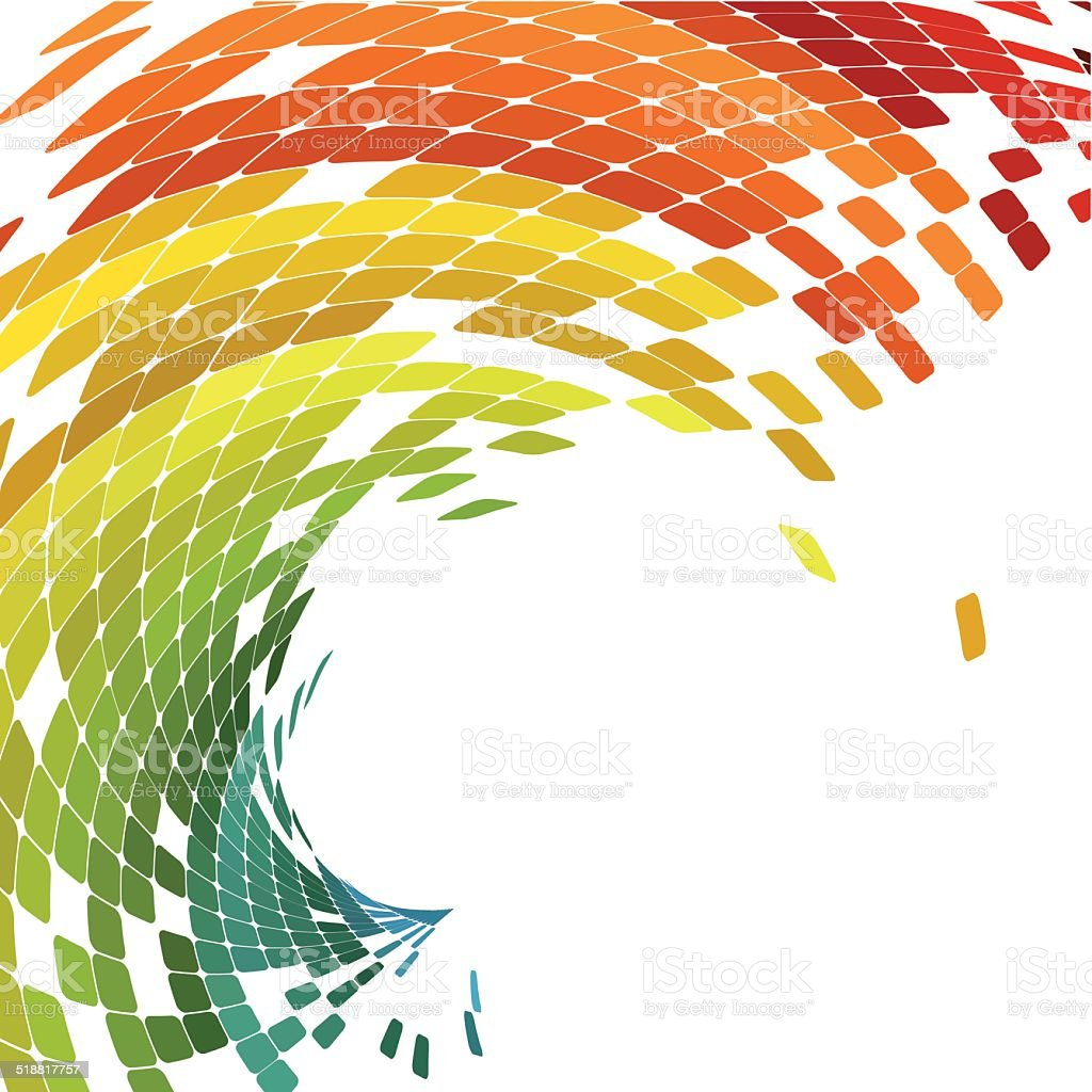 abstract colorful wave check pattern technology background vector art illustration