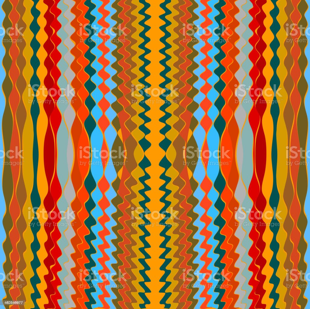 abstract colorful wave stripe pattern background vector art illustration