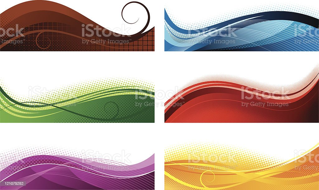 Abstract colorfull banners vector art illustration